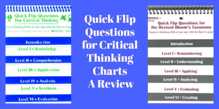 Quick Flip Questions for Critical Thinking Charts: A Review