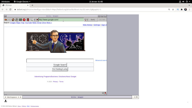 jslinux - executando outros sistemas operacionais dentro do navegador