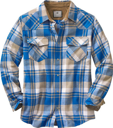 Best Blue Men's Vintage Plaid Flannel Shirts
