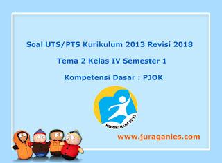 Contoh Soal UTS/ PTS Tema 2 PJOK Kelas 4 Semester 1 K13 Revisi 2018