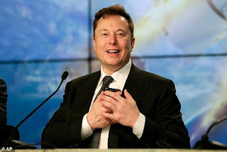 Elon Musk overtakes Mark Zuckerberg to become the world's third-richest person with a wealth of $115.4billion after Tesla shares surged 500%