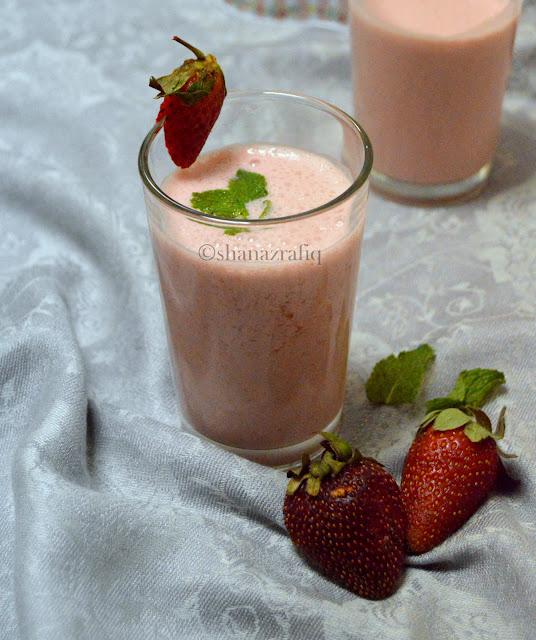 Strawberry Mint Lassi