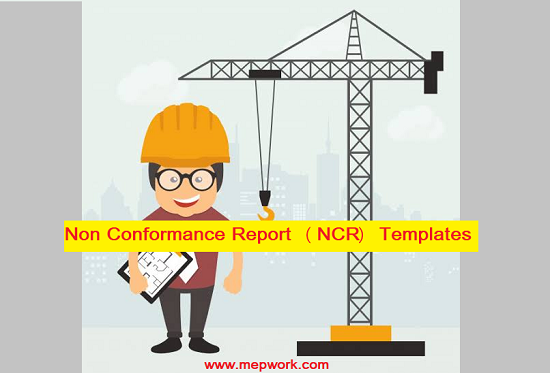 Consultant Non Conformance Report (NCR) Templates doc.