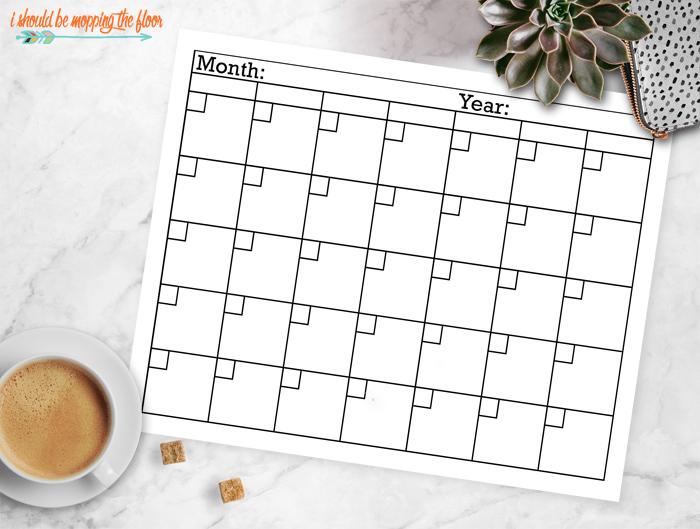 Blank Calendar Template