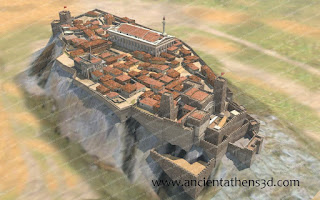 Γενική άποψη της Ακρόπολης τα πρώτα χρόνια της Οθωμανικής κατάκτησης.