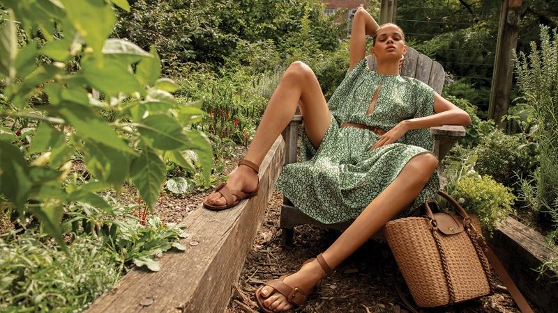 Hiandra Martinez poses for Michael Kors spring-summer 2021 campaign.