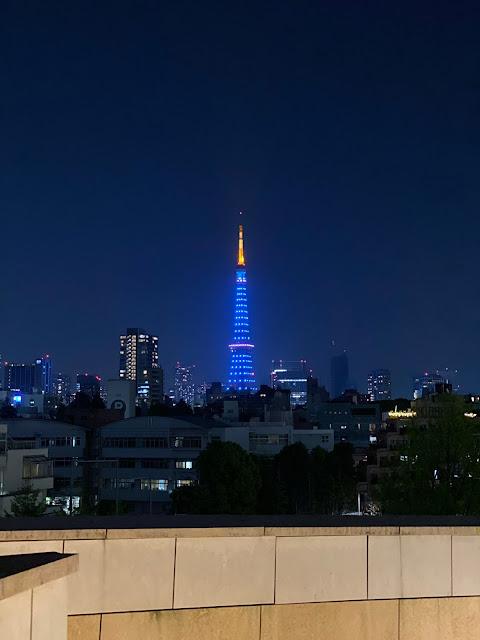 ブルーライトアップ (at @RoppongiHills Mori Tower in 港区, 東京都)