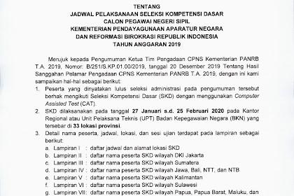 [Penting] Inilah Jadwal Pelaksanaan Seleksi Kompetensi Dasar CPNS KemenPAN-RB
