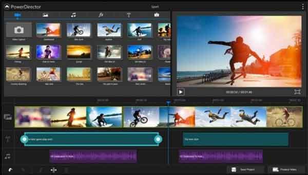 Software edit video terbaik yang bisa dicoba - Cyberlink PowerDirector