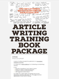 Article Writing Training For Nigeria