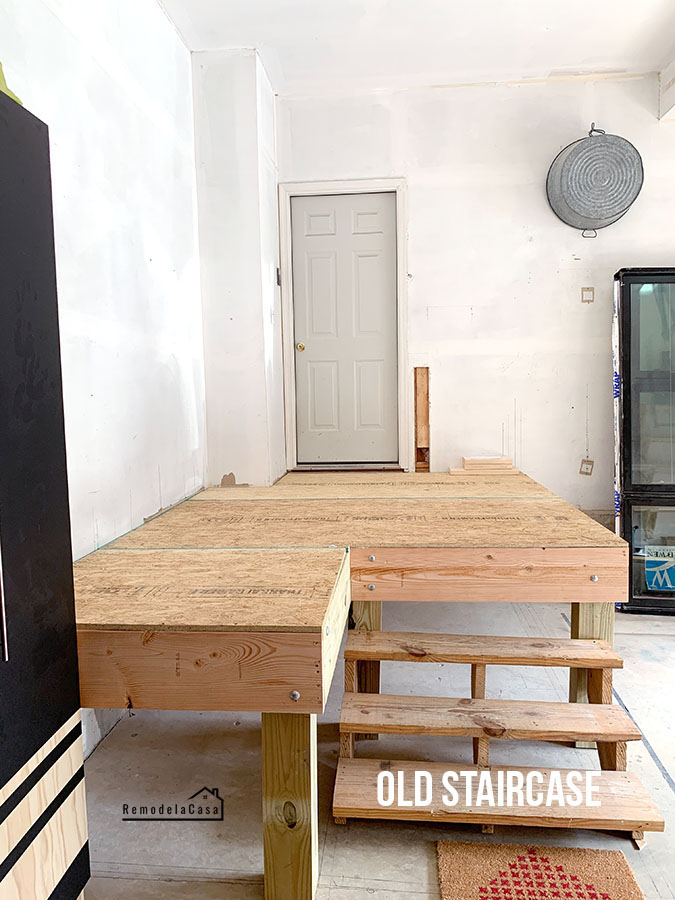 how to build a platform in the garage entrance