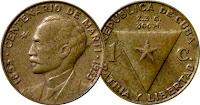1 cent - Cuba - 1953
