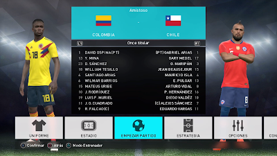 PES 2018 PS3 Option File Copa America 2019