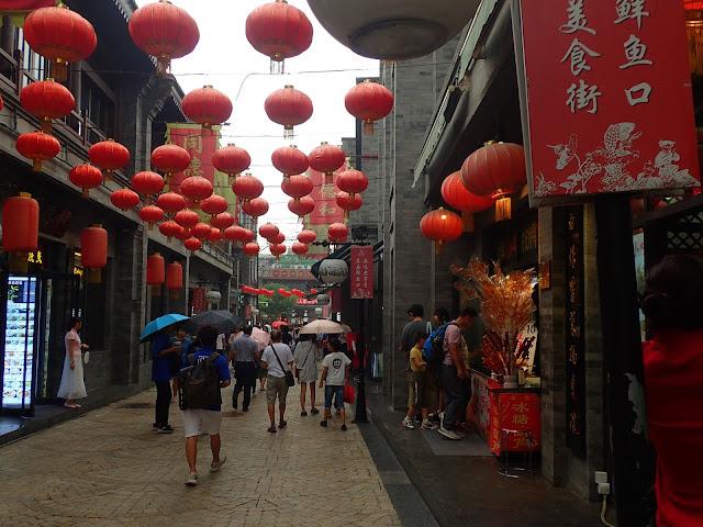 Lampiony na pekińskiej ulicy - +20 do orientalności ;-)