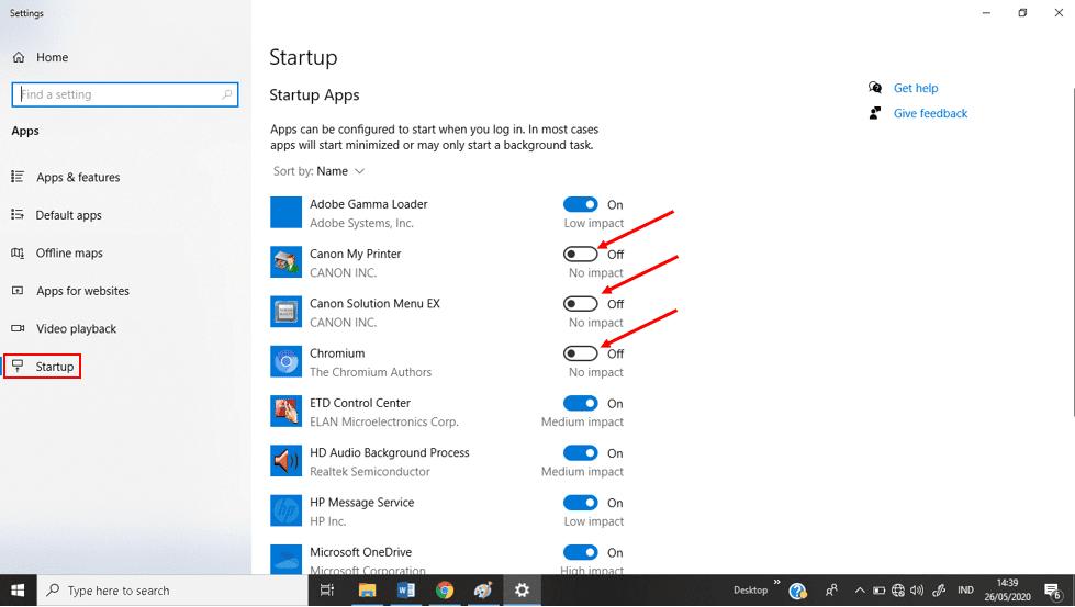 Mengurangi aplikasi yang berjalan saat laptop dinyalakan