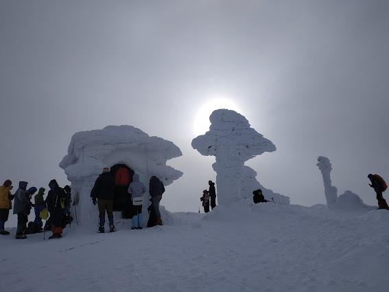 Петрос, зима,  вершина
