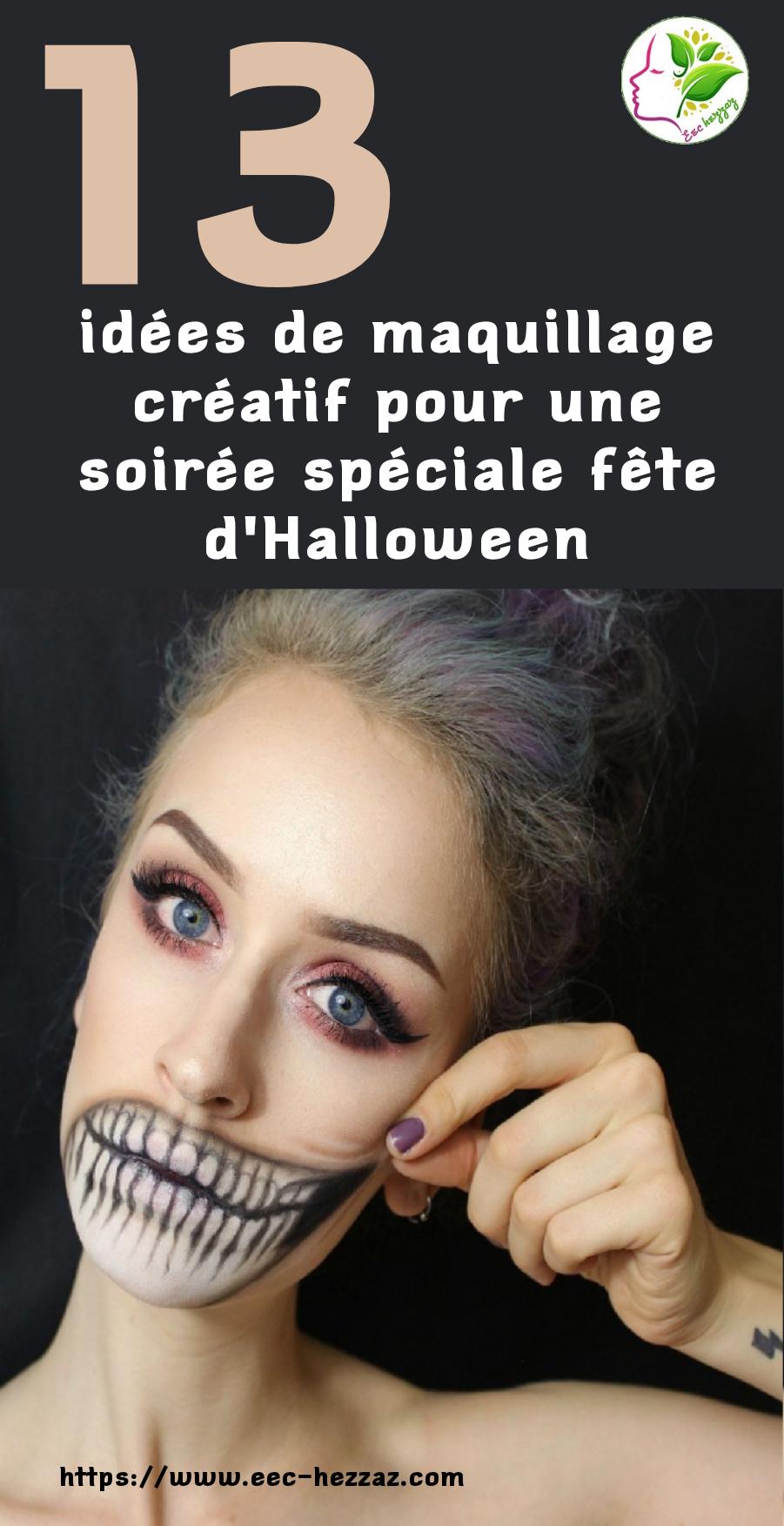 13 idées de maquillage créatif pour une soirée spéciale fête d'Halloween