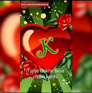 K Name Letter Whatsapp Status Video Download