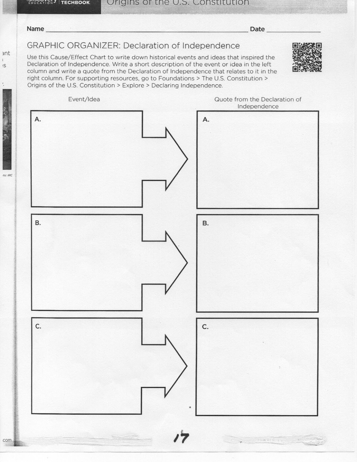 Coach Green S Class U3 Worksheets Origins Of The Constitution