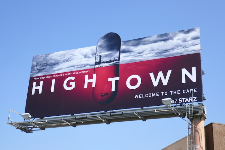 Hightown series launch billboard