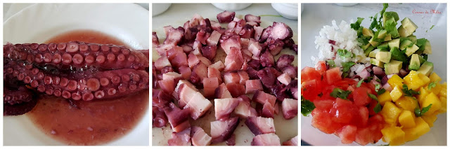 Ingredientes Tartar de pulpo