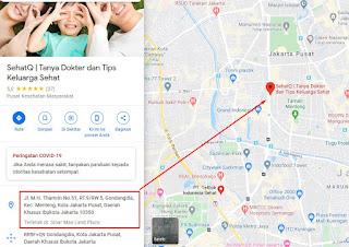 Lokasi SehatQ.com Aplikasi Kesehatan Berbasis Digital Indonesia
