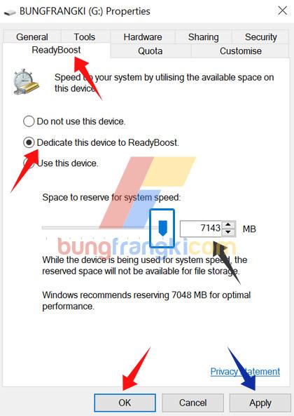 Cara Tingkatkan RAM menggunakan Flashdisk