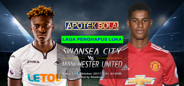 Swansea City vs Manchester United 25 Oktober 2017