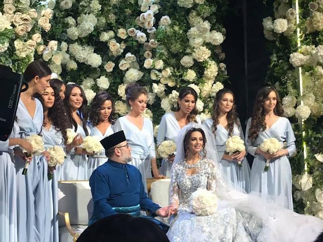 Siaran TV Di China Siar Video Perkahwinan YDP Agong bersama Oksana Voevodina (Ratu Cantik Rusia)
