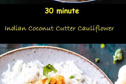 30 minute indian coconut butter cauliflower