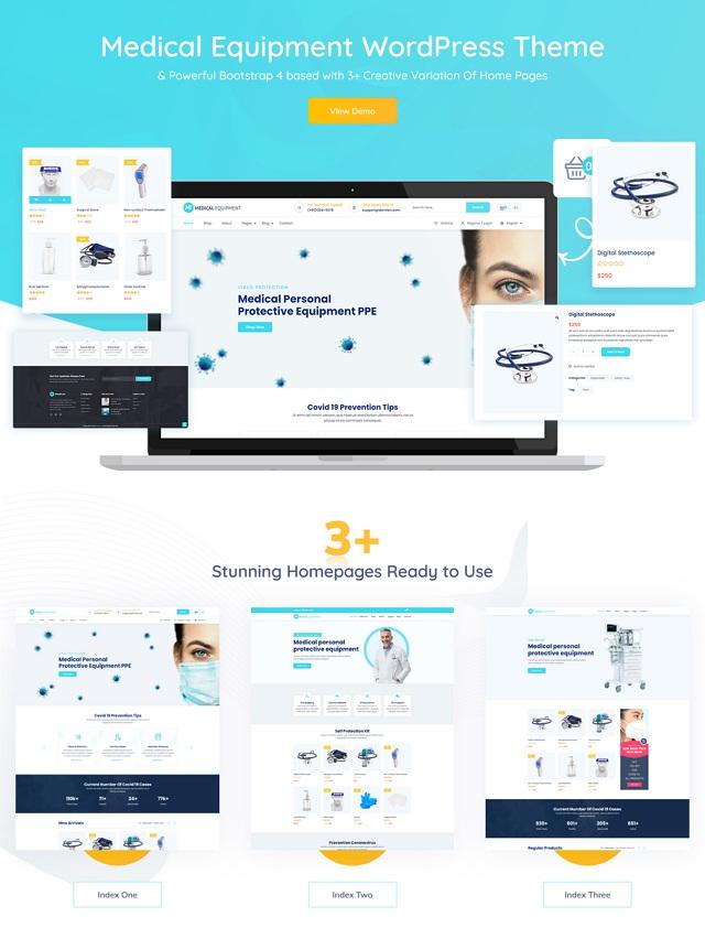 Medical Shop eCommerce WordPress Theme