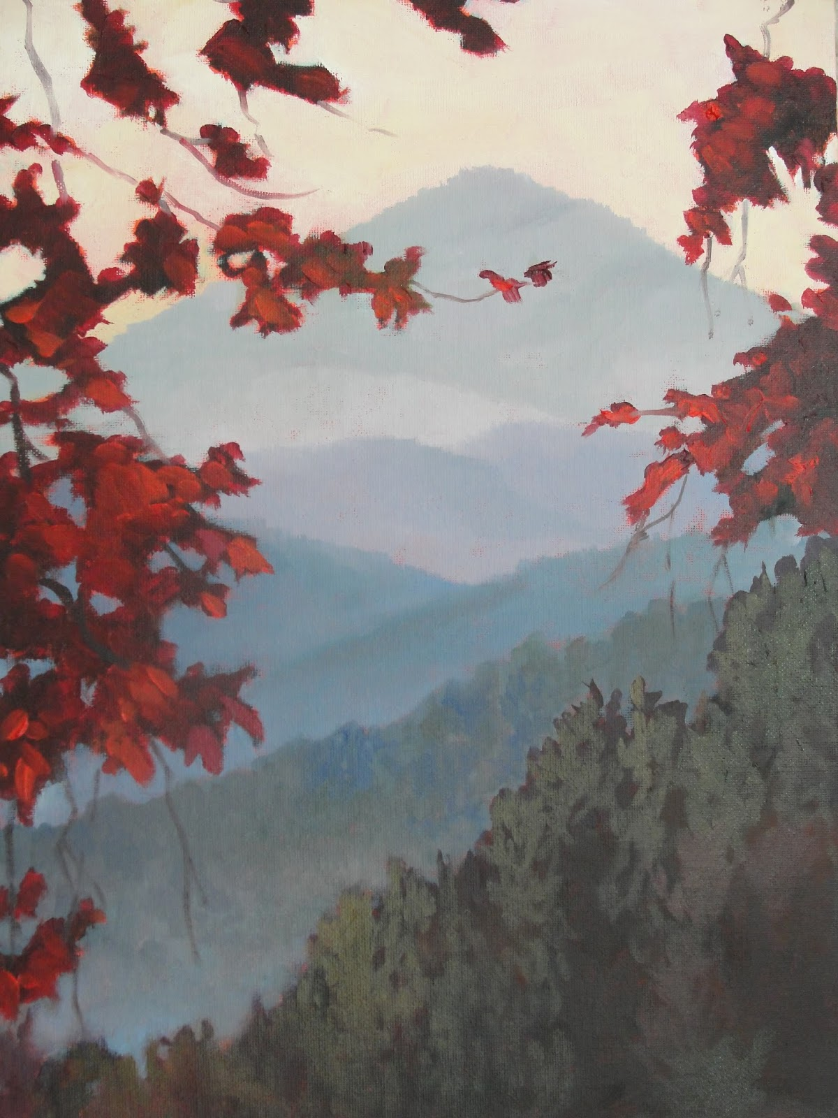 Blue ridge daily painter janet wimmer exploration and imagination for Raymond lord memorial swimming pool