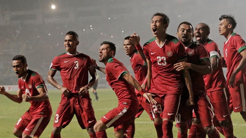 Pemain Timnas Indonesia saat berlaga di AFF Cup 2016