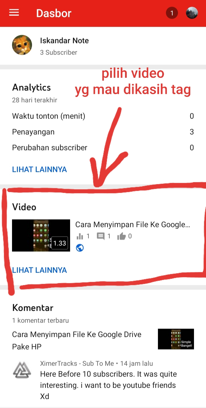 bikin tag youtube di hp
