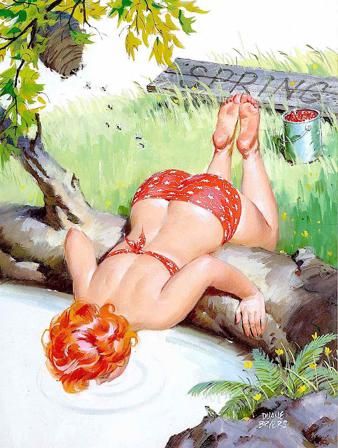 a Duane Bryers illustration of his pin-up character Hilda