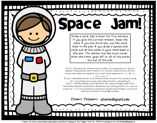 Space Jam Multiplication Freebie!