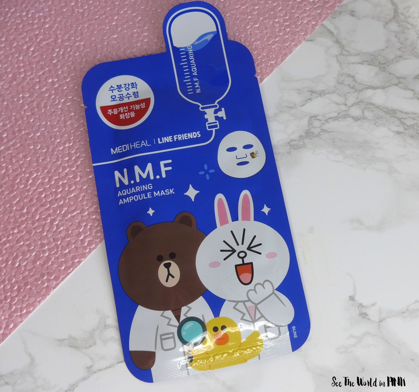 Skincare Sunday #CBBGetsSheetFaced Mediheal Line Friends N.M.F. mask