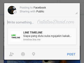 Cara Reshare Repost Dari Aplikasi Line Ke Facebook Whatsapp Dkk
