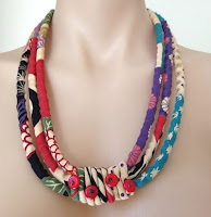 Japanese cotton fabric necklace