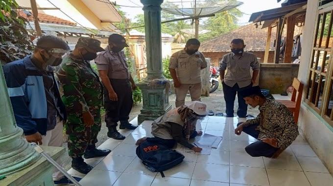 Jaga Kondusifitas serta Terapkan Protokol Kesehatan, Polsek Waringinkurung Bersama Unsur TNI Dampingi Pelaksanaan Coklit