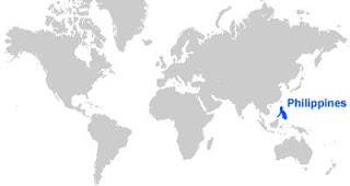 Gambar Peta letak Filipina