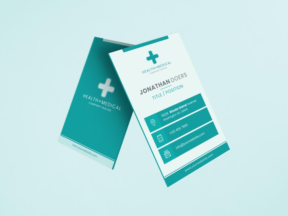 Free Health Medical Business Cards Design