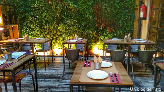 Restaurante Saporem en Madrid terraza