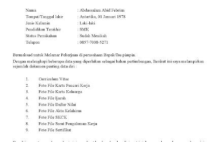 Jasa Lamaran Kerja Via Email Rp. 30.000 CV Tema Profesional Lengkap