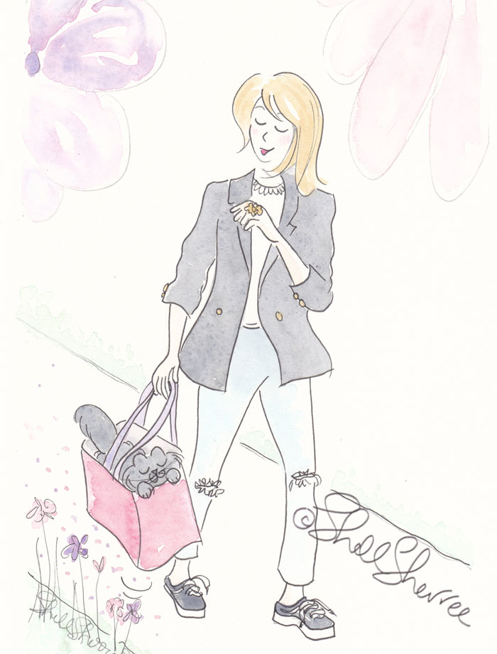 Wear in the Blazers Are We Wandering fashion & fluffballs illustration © Shell Sherree