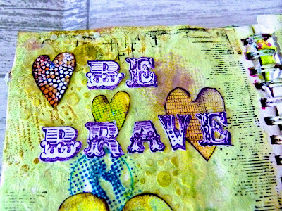 Close up on be brave letters