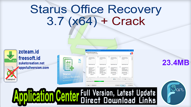 Starus Office Recovery 3.7 (x64) + Crack_ ZcTeam.id