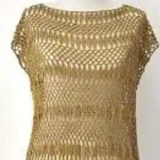 Blusa Vestido y Salida de baño a Crochet