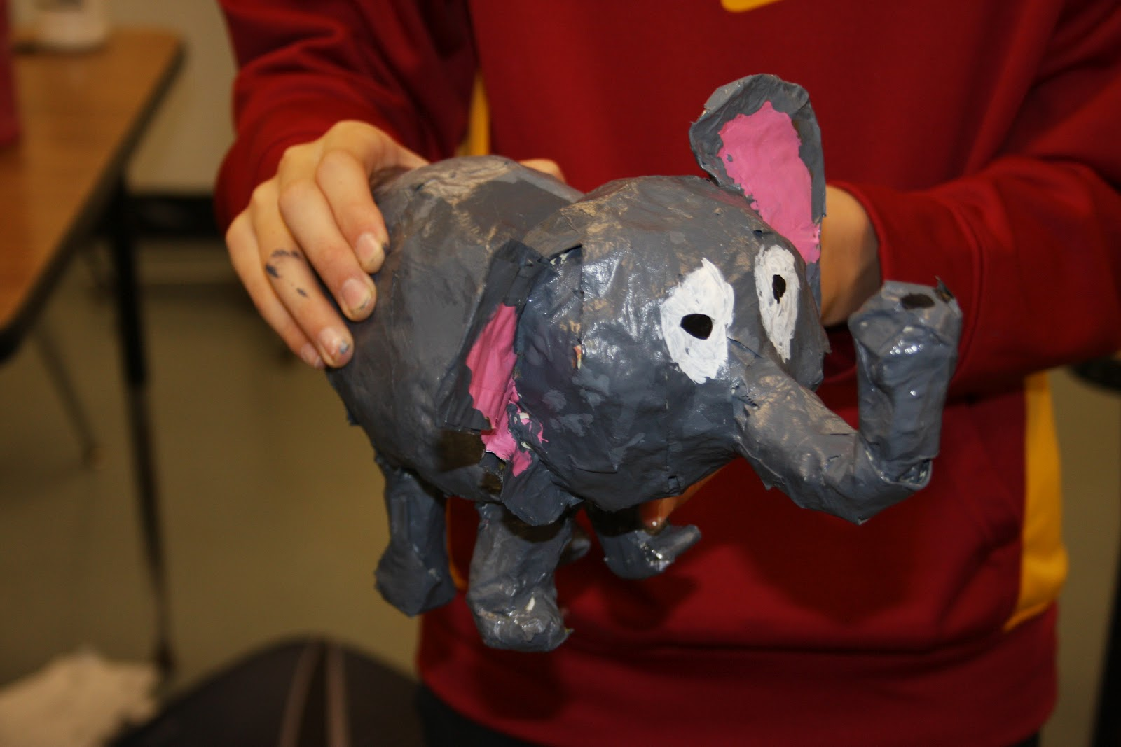 6th grade paper mache animal sculptures art is awesome