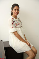 Lavanya Tripathi in Summer Style Spicy Short White Dress at her Interview  Exclusive 155.JPG